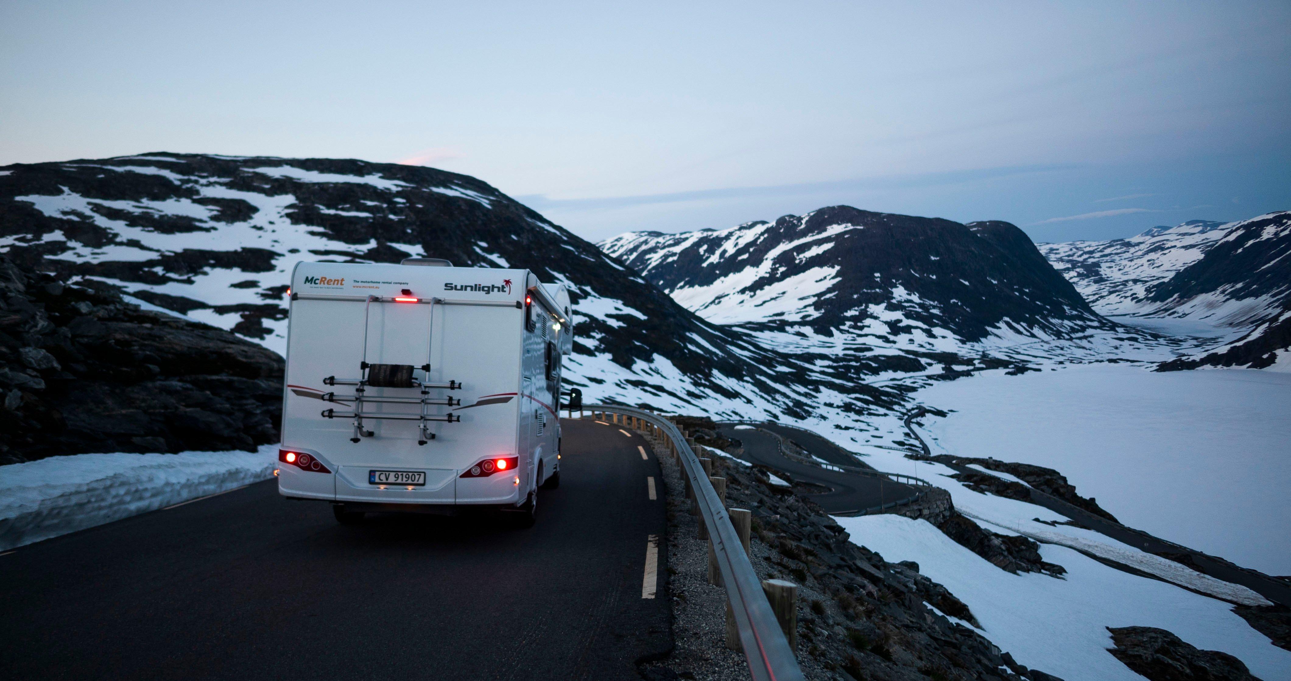 Opplev Norge med en bobil eller campingvogn fra Ferda