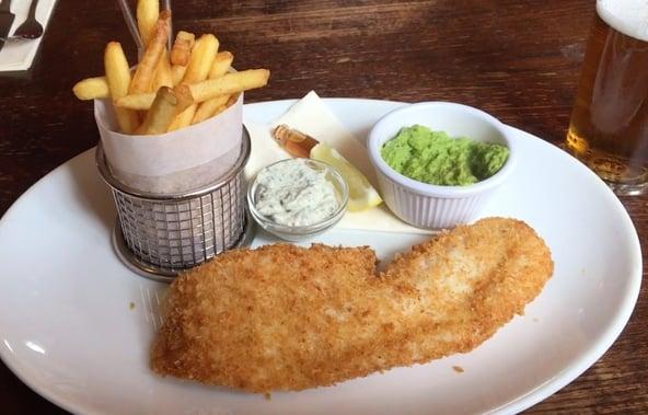 Fish & chips på Boot Inn