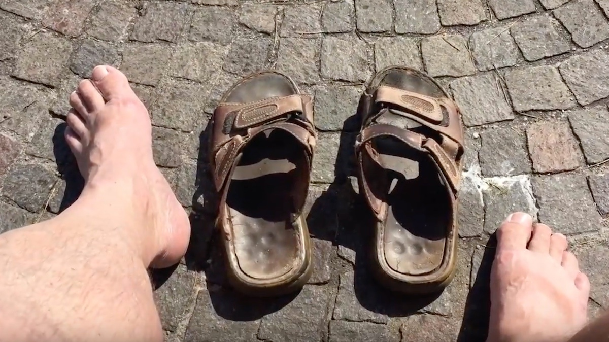 Europa rundt i sandaler