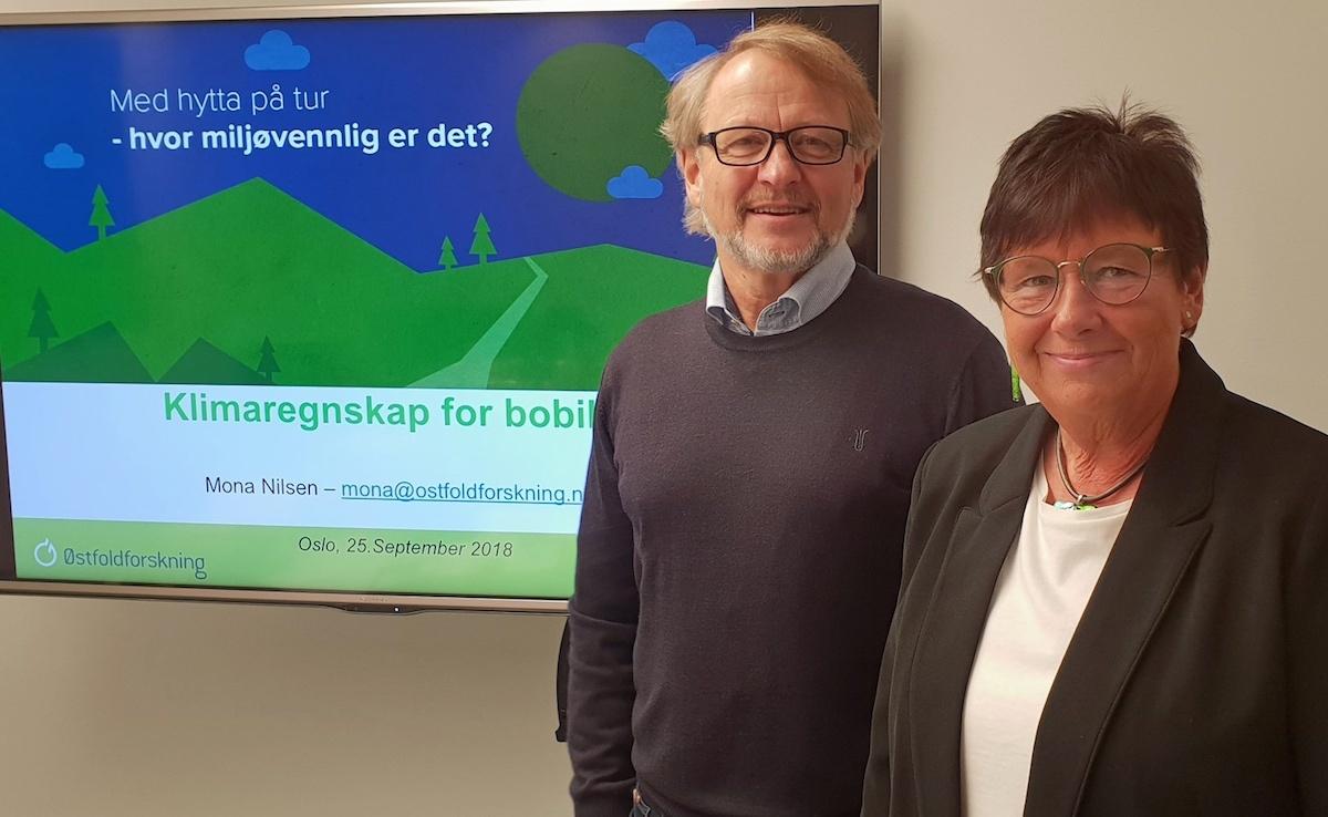 Geir Holm og Mona Nilsen klimarapporten