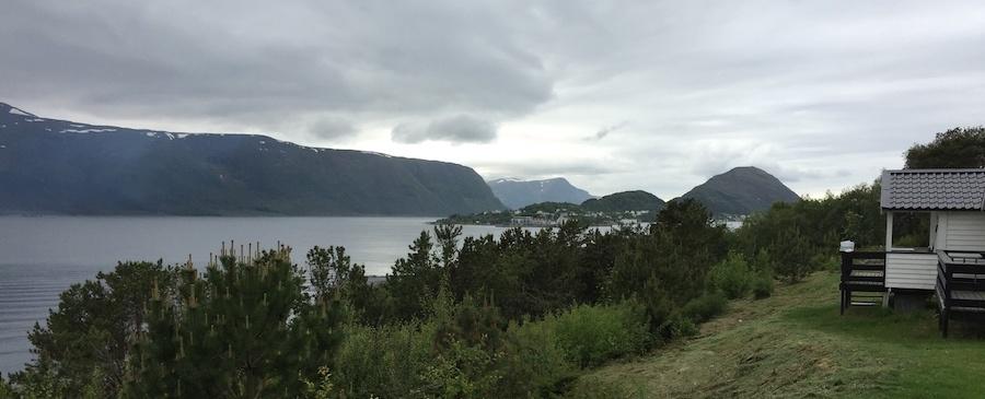 Utsikten fra hyttene på Volsdalen Camping