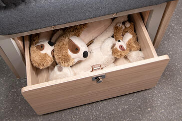 Bamser i en skuff