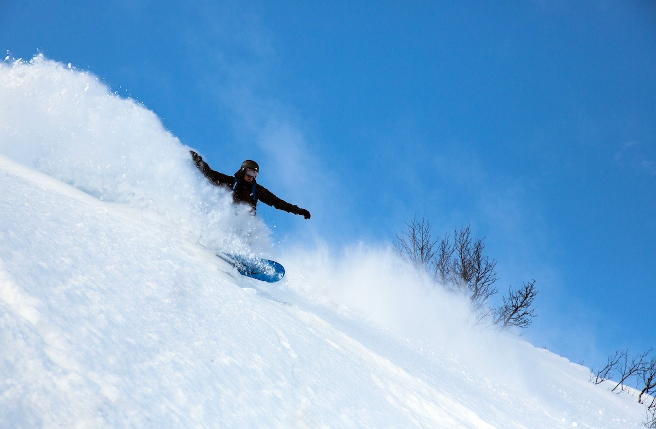 Snowboardog bobil i Hemsedal