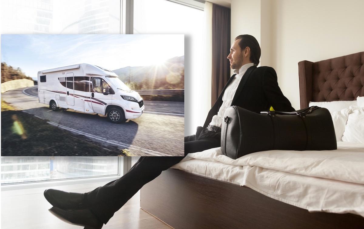 Lei av hotellrom? Hva med å ha bobilen som arbeidsplass?